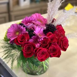 Pink Red Floral Arrangement